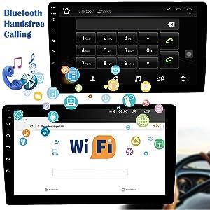 car stereo with Bluetooth HD radio 10.1 inch