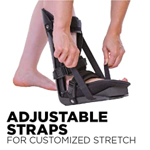 adjustable straps on the plantar fasciitis night splint all you to stretch your tendon