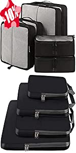 BAGAIL 6 Set Packing Cubes+4 Set Compression Packing Cubes