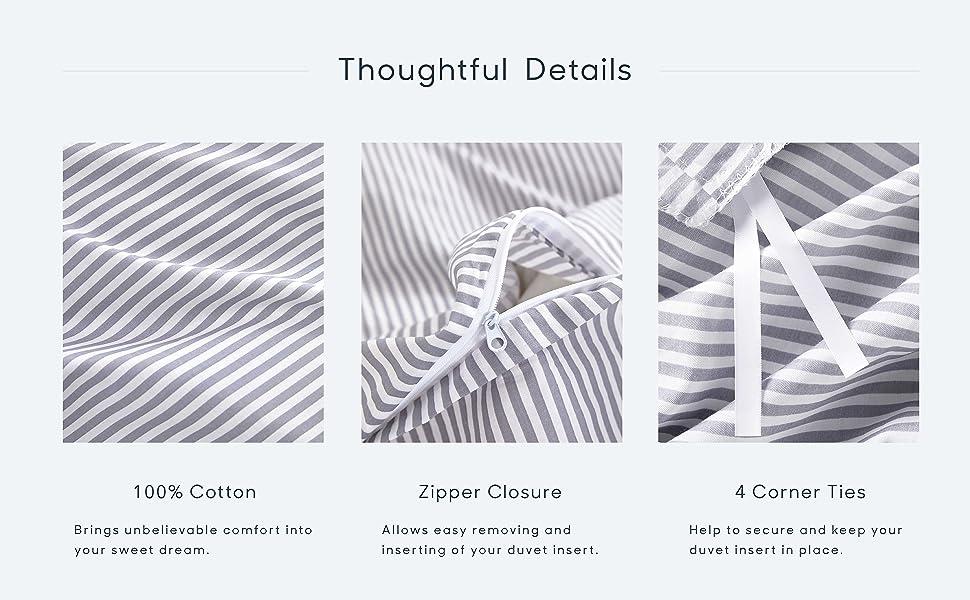 cotton, zipper, corner ties