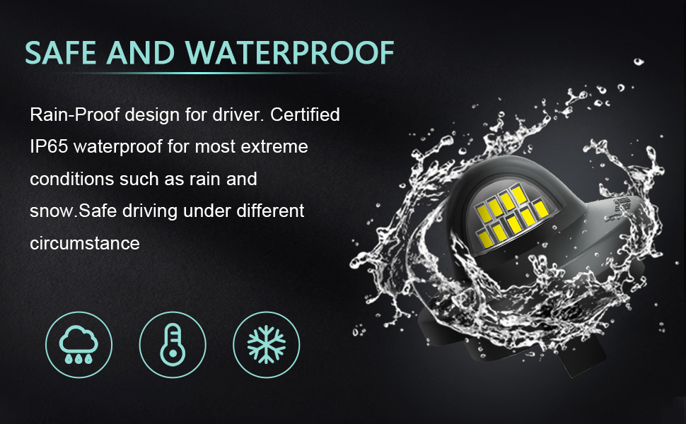 Safe and IP65 Waterproof License Plate light