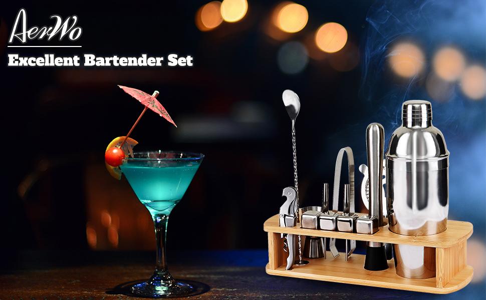 Stainless Steel Martini Shaker Set