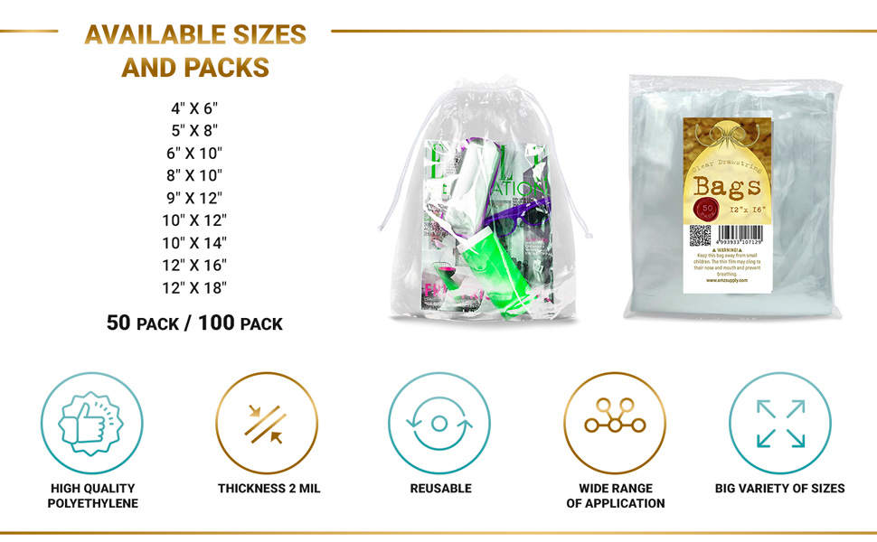 APQ Clear Bags for Concerts Clear Mini Backpack Stadium Approved Clear String Bag Clear Drawstring