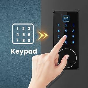 smart keyless entry door lock