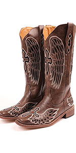 Women Embroidery Cowgirl Cowboy Boots