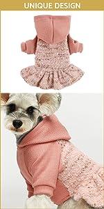 Fuzzy Velvet Hoodie Dresses B09D3DYPLM