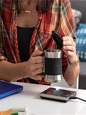 Make sure your beverage stays warm even as the first few hours of the day whiz by.