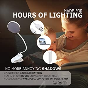 Made for hours of lighting