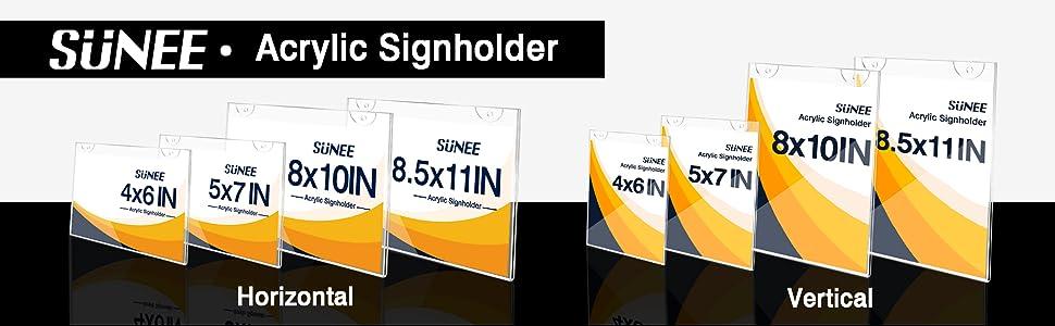 SUNEE Acrylic SignHolder