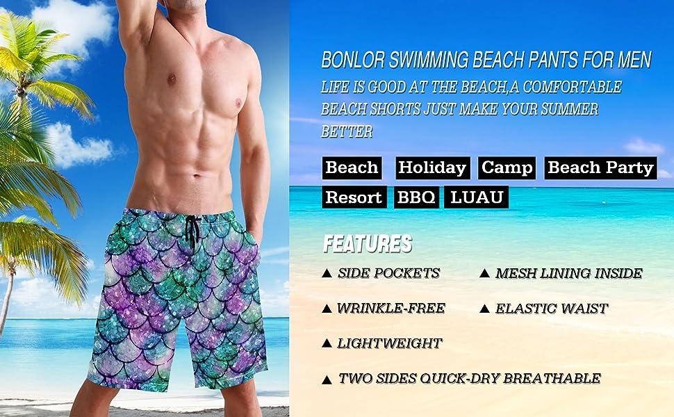 Men's Swim Trunks Summer Surf Swim Trunks Beach Shorts