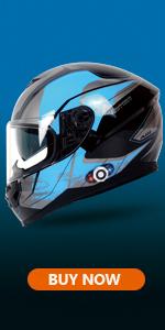 BM22 Blue Motorcycle Bluetooth Helmet