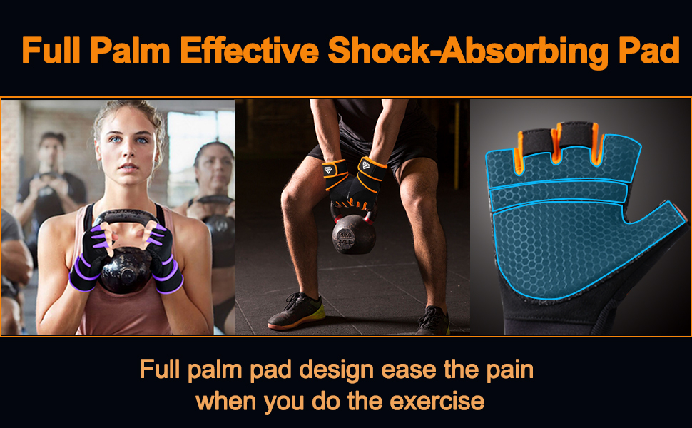 Full Palm Effective Shock-Absorbing Pad