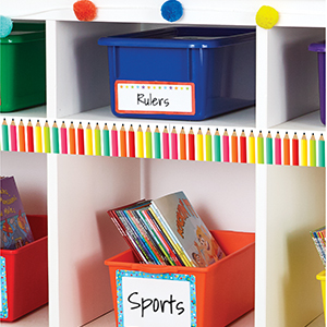 Alternate ways to use borders to decorate a classroom
