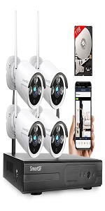 wireless security camera system  with 1TB hard drive