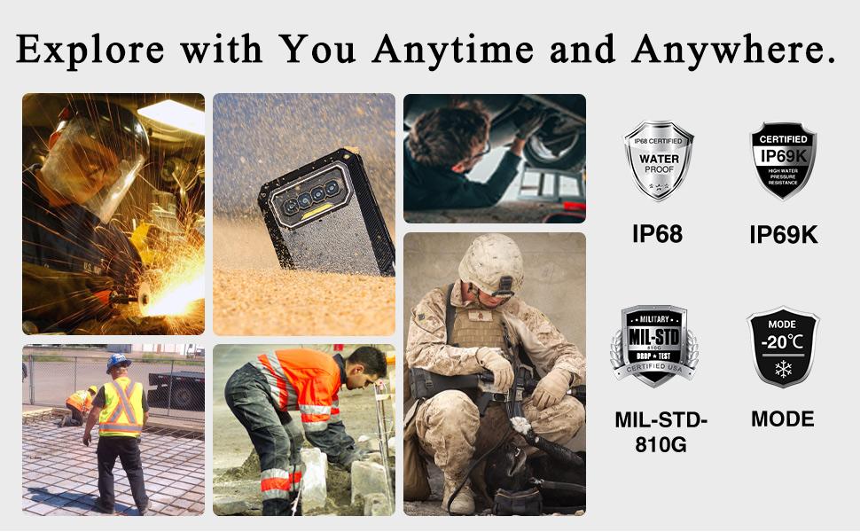 IP68 rugged smartphones