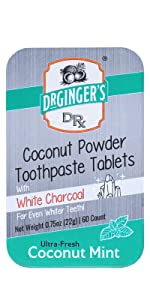 White Charcoal Toothpaste Tablets