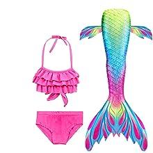 girls mermaid costume swimsuit