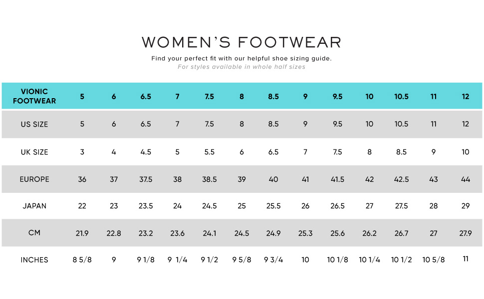 Womens ladies girls size 3 4 5 6 7 8 9 10 UK US EU CM Inches