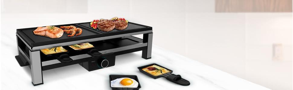 Raclette à fromage, fromage, raclette en acier inoxydable, grille, raclette avec raclette, pierre