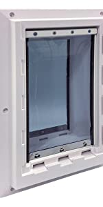 Wall Entry Pet Door Double Flap for Walls
