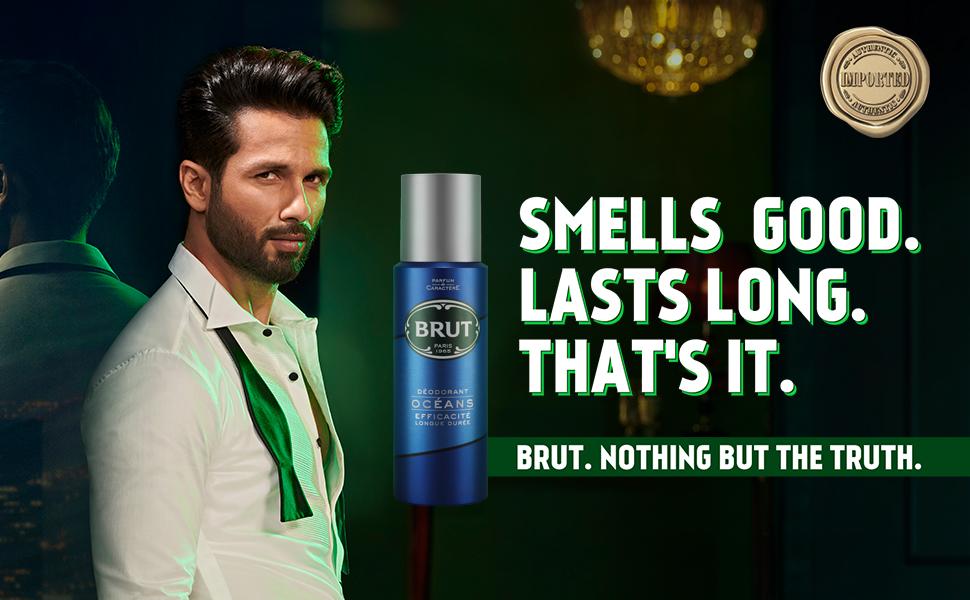Brut,Brut Deodorant, Smells good, Fragrant deodorant, body odor, Ocean deo, From Paris
