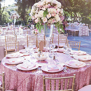 Party sequin tablecloth