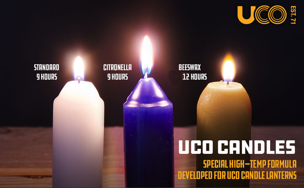 UCO Candles, beeswax