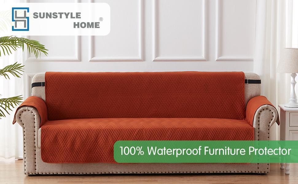 rust sofa slipcover