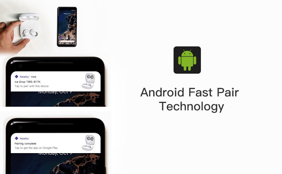 ■Google Fast PairはAndroidスマホで、AirPodsとiPhoneのように近付けるだけの簡単ペアリングと初期接続を実現する技術です。