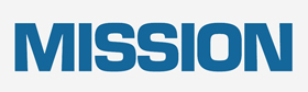 The MISSION Logo (Blue Letters with a grey background)