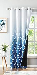 Blue Ombre Blackout Curtains