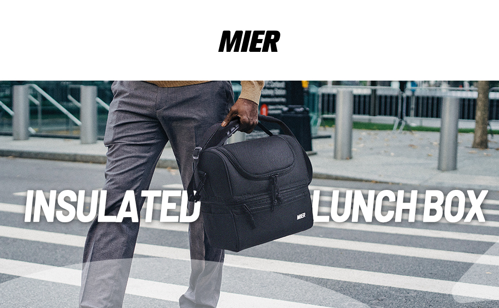 MIER insulated lunch box for men