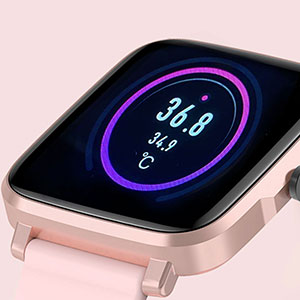 smart watch with temperature