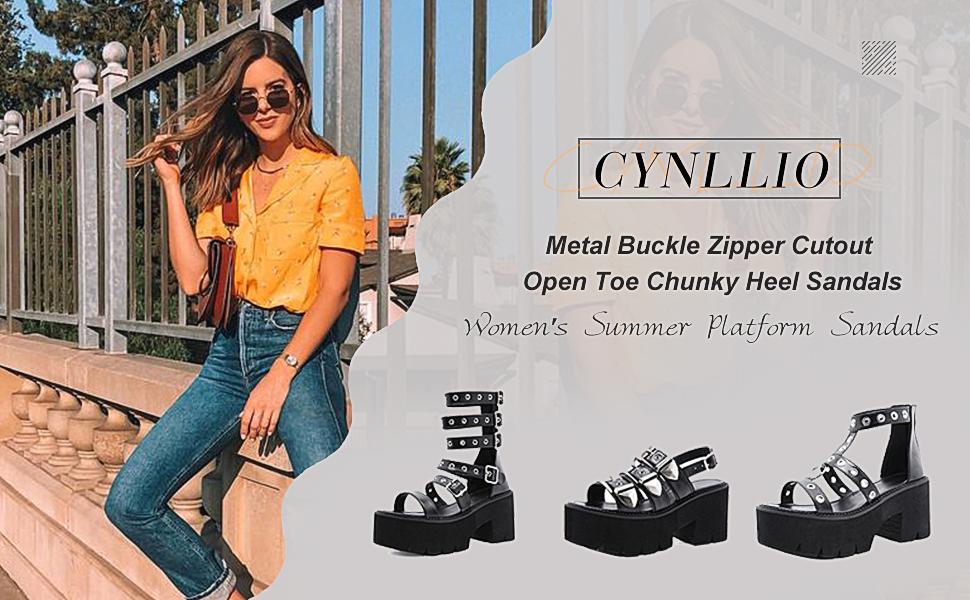 black platform boots for women