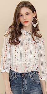 B07Q34JMFL  3/4 Sleeve Lace Top