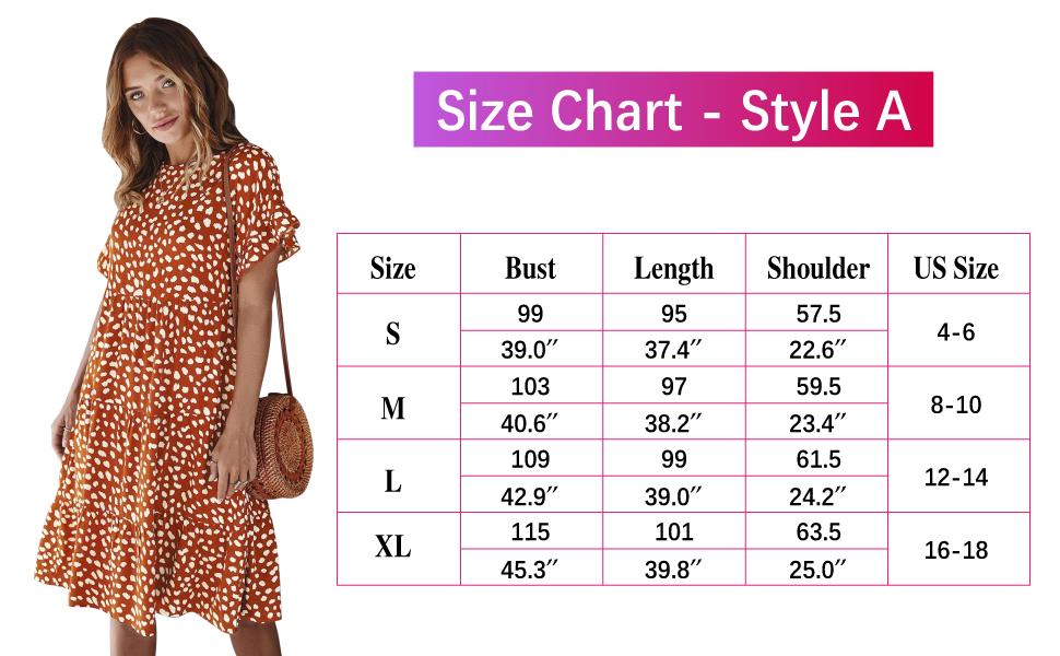 Size Chart A