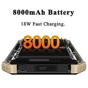 8000mAh Battery Smartphone