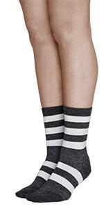 calzini calze lana merino invernali caldi comodi morbidi sottili corti termici strisce righe donna