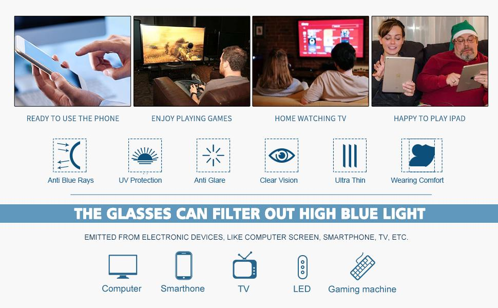 EYEGUARD 2 Pack Blue Light Blocking Glasses