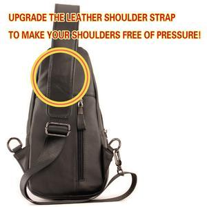 leather sling bag for men
