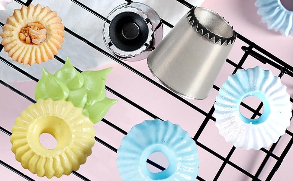 Suuker 2pcs set Romeo Cake Icing Tips Professional Decorating ...