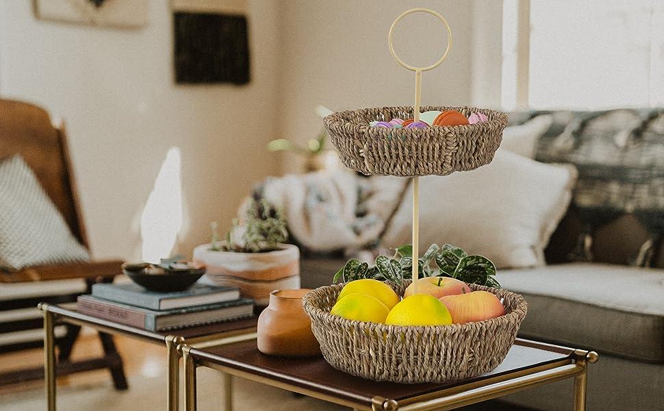 3 tier fruit basket stand