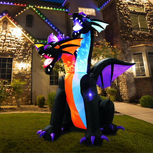 7 Ft Halloween Inflatable Dragon