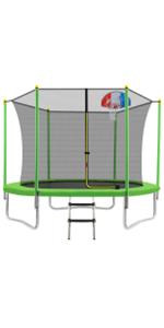 WISHWILL 8FT 10FT Trampoline