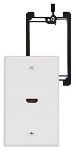 single hdmi wall plate with bracket