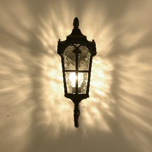 exterior wall lantern water glass
