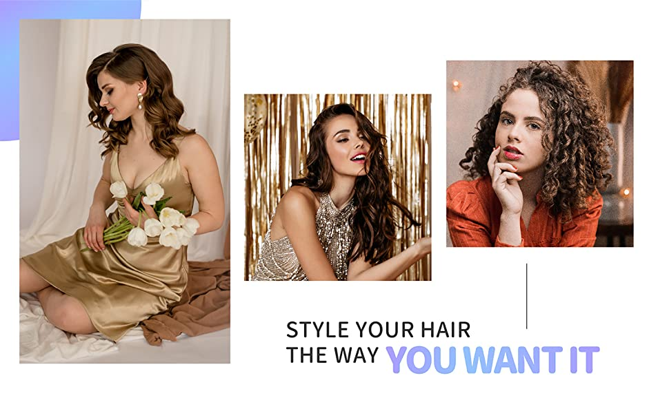 Hair curlers for adding volume to hair, so many hairstyles!