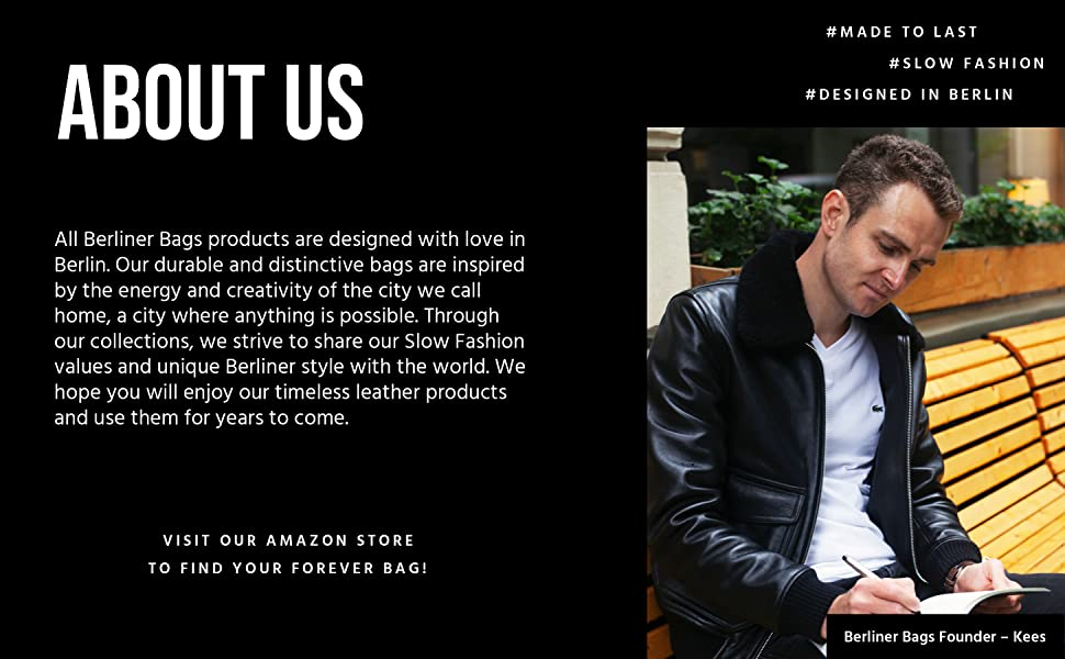 About Berliner Bags - Our Founder Kees