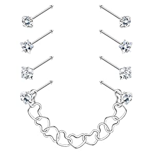 double nose ring chain