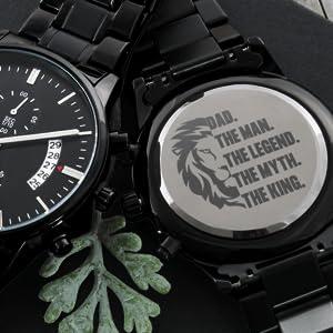 Elegant Engraved Watch - The King
